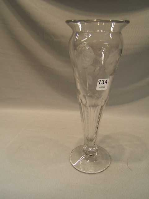 2134: CUT GLASS VASE