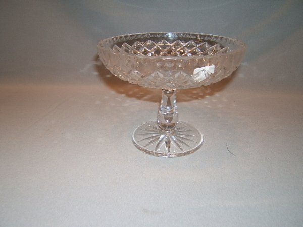 2136: SIGNED CUT GLASS COMPOTE
