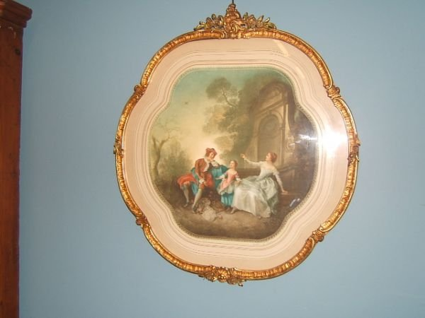 4066: 2 MEZZOTINTS IN MATCHING GILT FRAMES