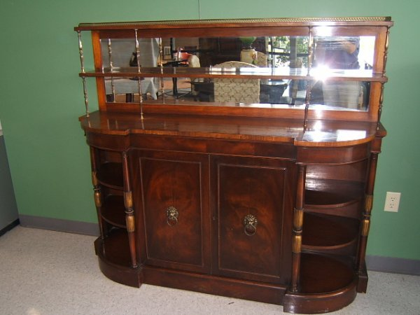 4069: MAHOGANY SIDEBOARD WITH MIRRORED BACK