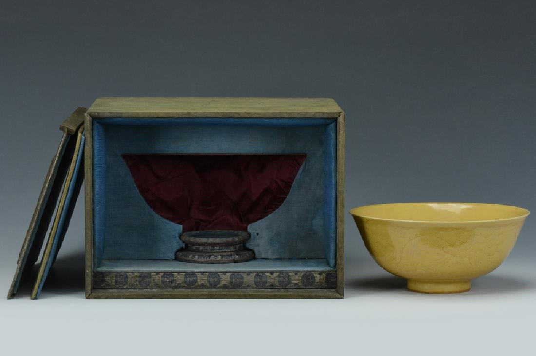 An Imperial Dragon Bowl, Qianlong Mark and Period
