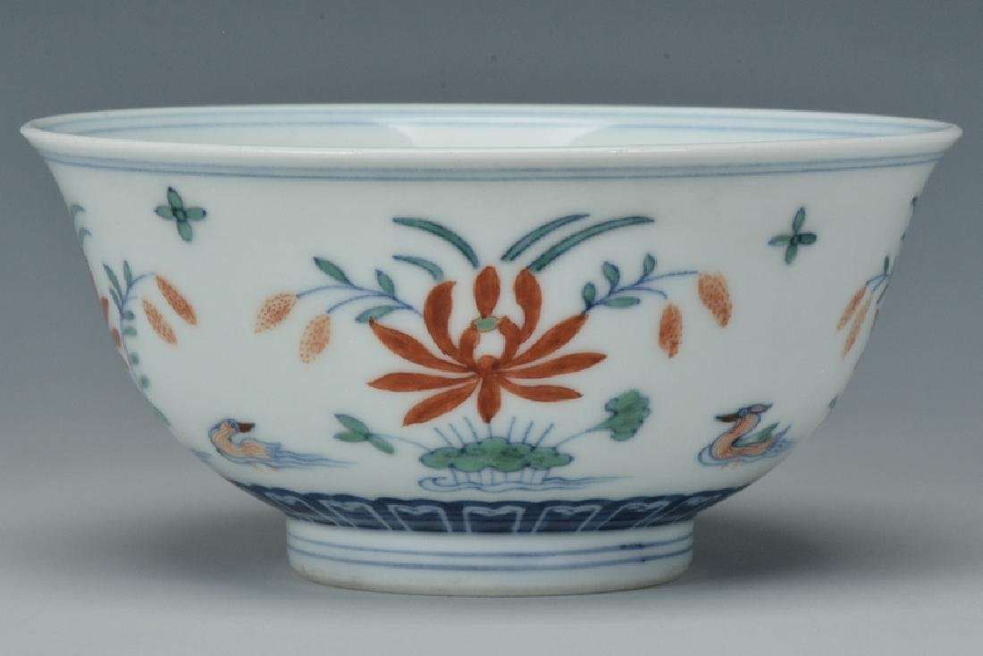 An Imperial Doucai Bowl, Qianlong Mark and Period