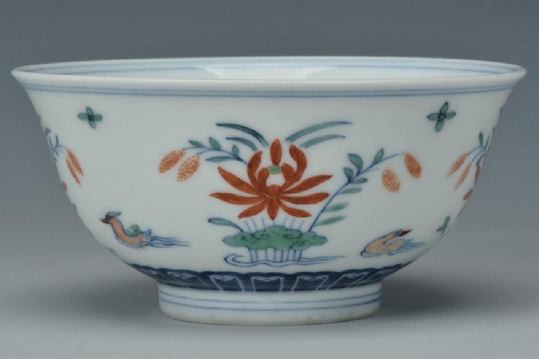 An Imperial Doucai Bowl, Qianlong Mark and Period - 2