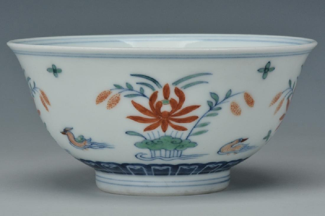 An Imperial Doucai Bowl, Qianlong Mark and Period - 2