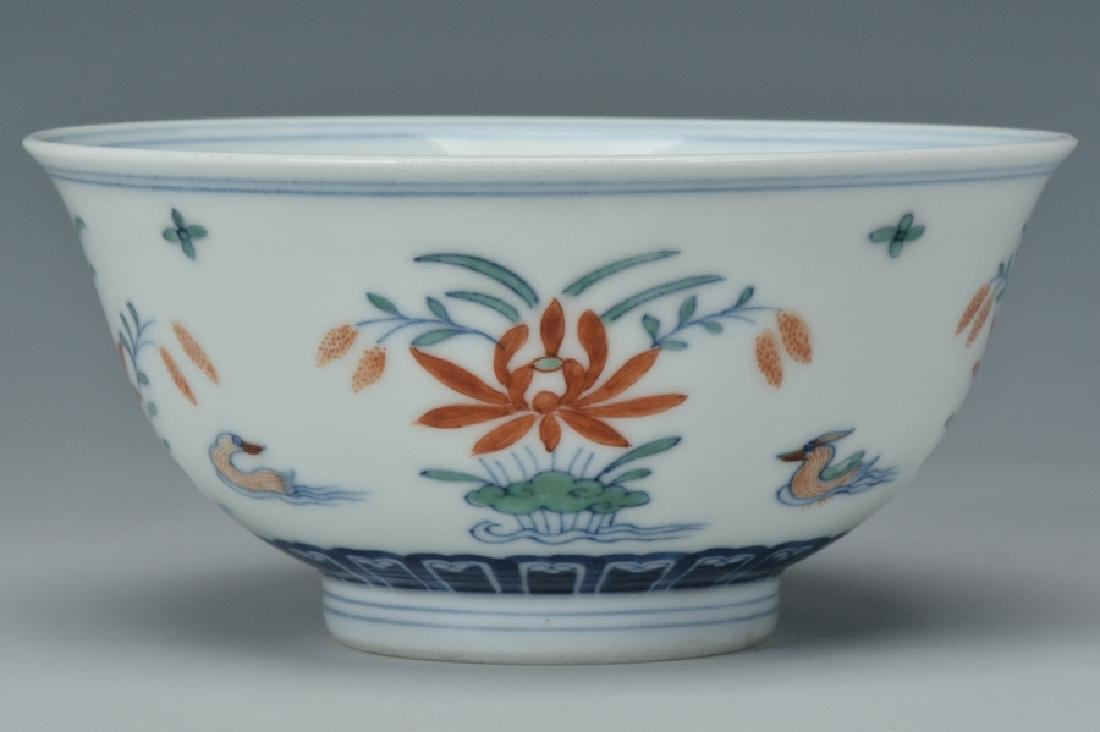 An Imperial Doucai Bowl, Qianlong Mark and Period - 3