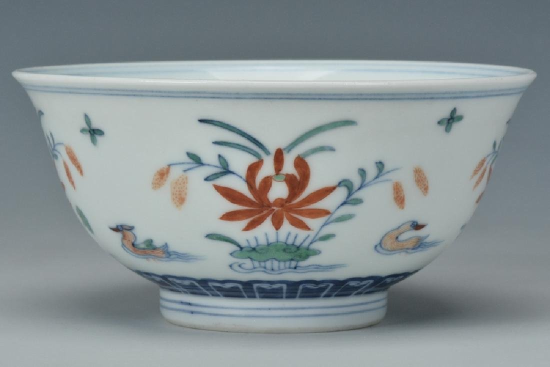 An Imperial Doucai Bowl, Qianlong Mark and Period - 4