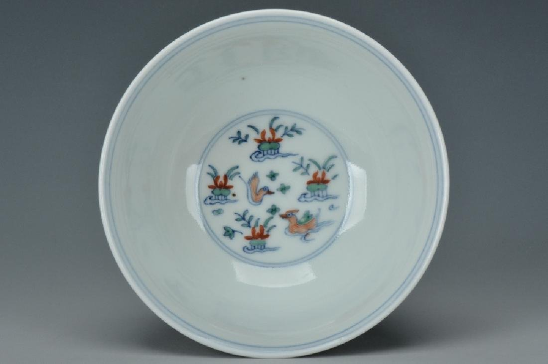 An Imperial Doucai Bowl, Qianlong Mark and Period - 5