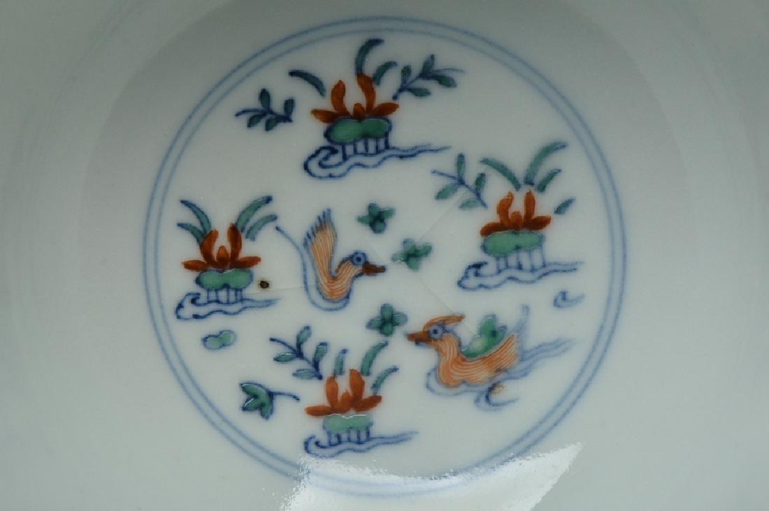 An Imperial Doucai Bowl, Qianlong Mark and Period - 6