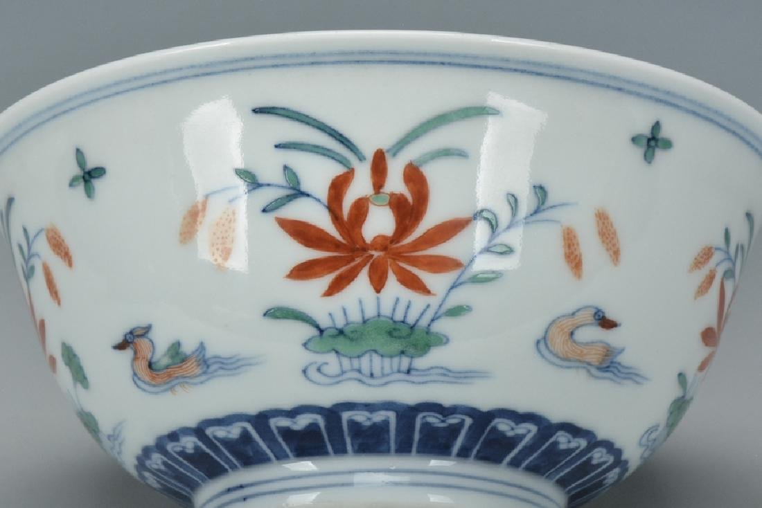 An Imperial Doucai Bowl, Qianlong Mark and Period - 7