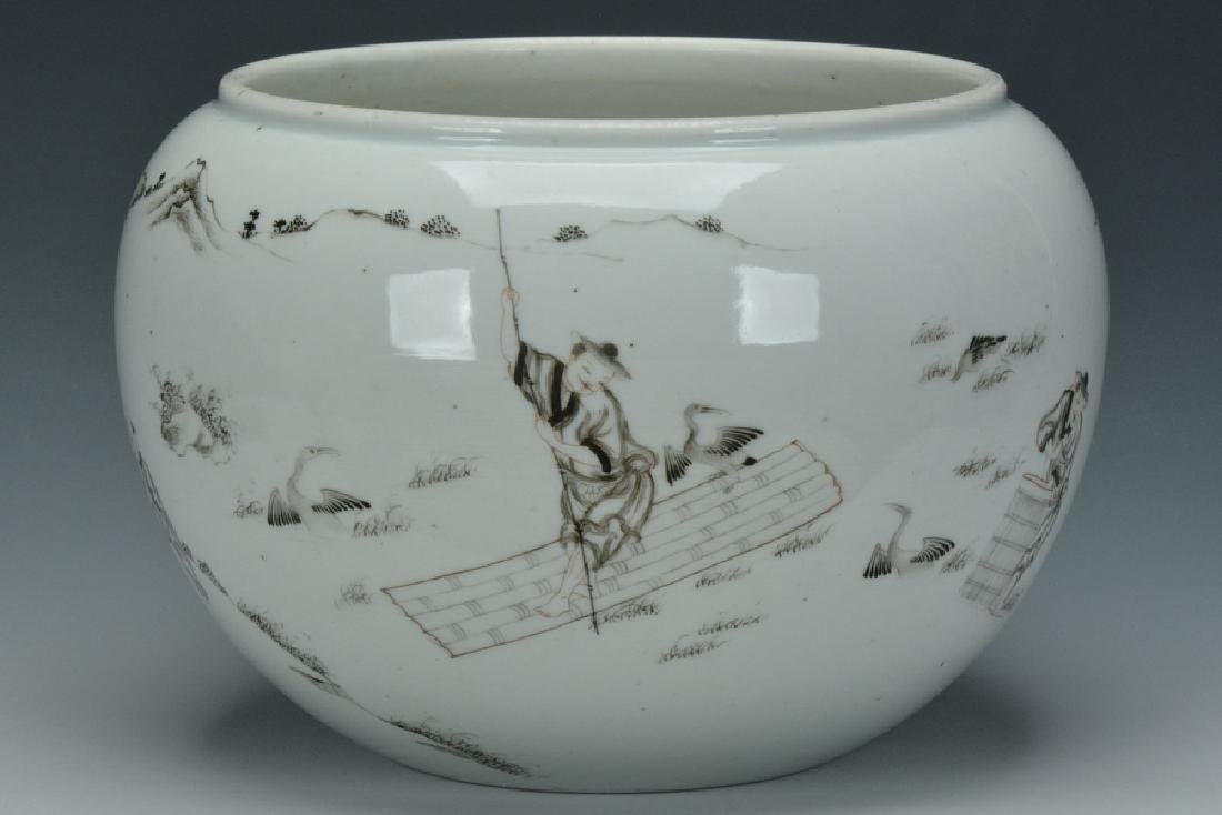 A Grisaille-Decorated Brush Washer, Yongzheng