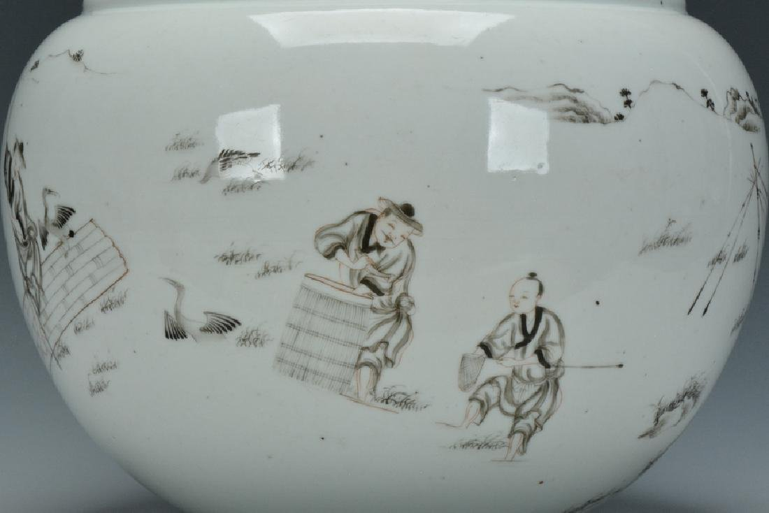 A Grisaille-Decorated Brush Washer, Yongzheng - 5