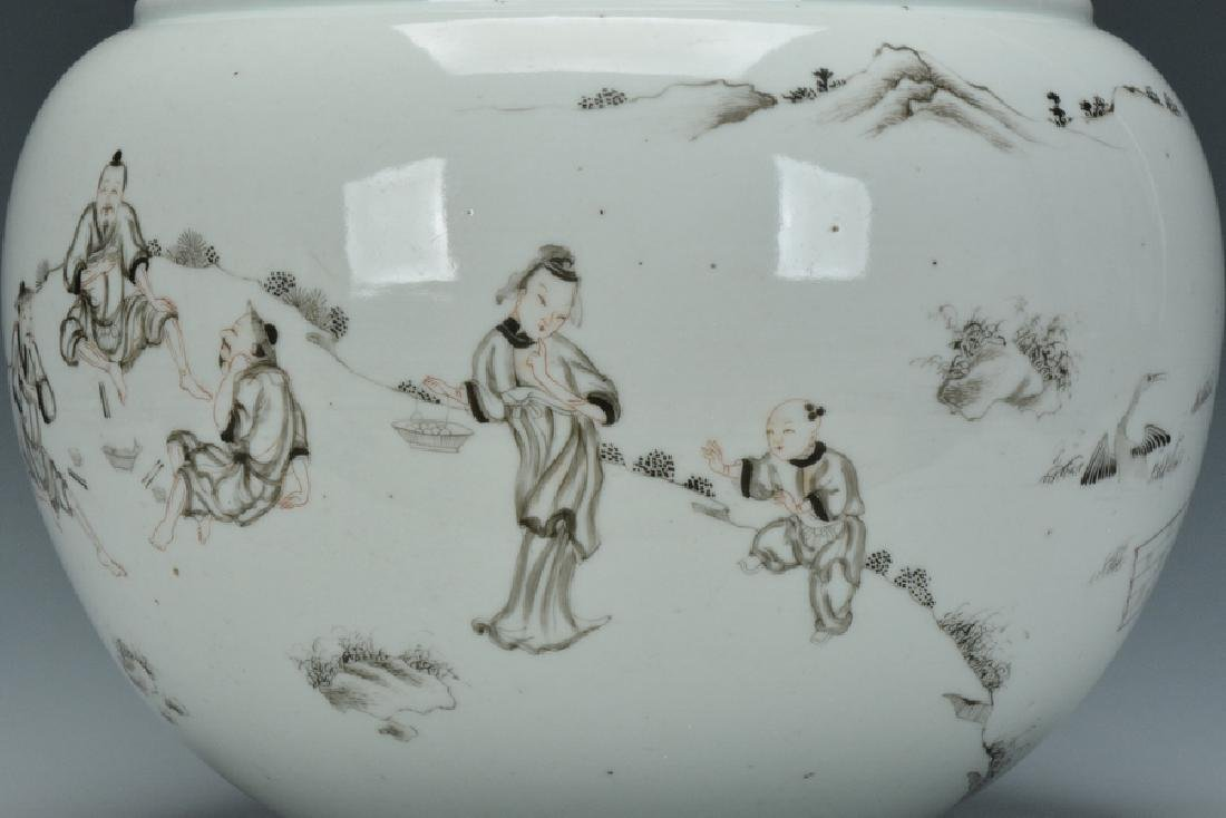 A Grisaille-Decorated Brush Washer, Yongzheng - 6