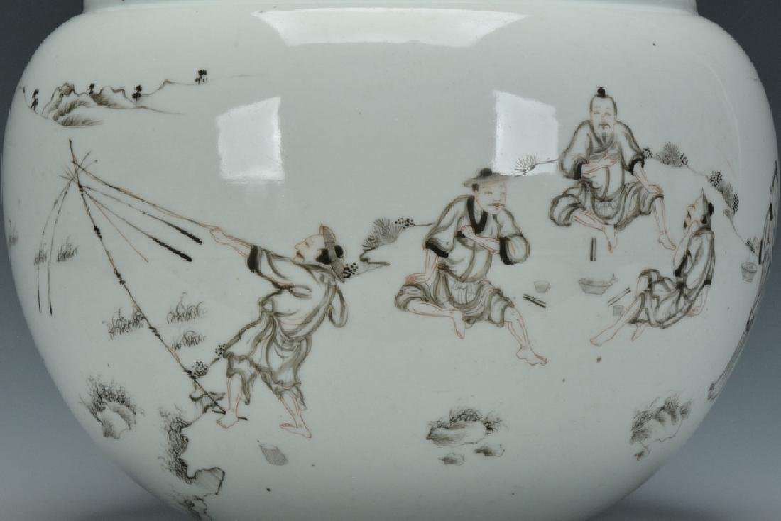 A Grisaille-Decorated Brush Washer, Yongzheng - 7