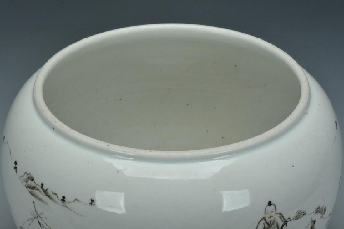 A Grisaille-Decorated Brush Washer, Yongzheng - 8