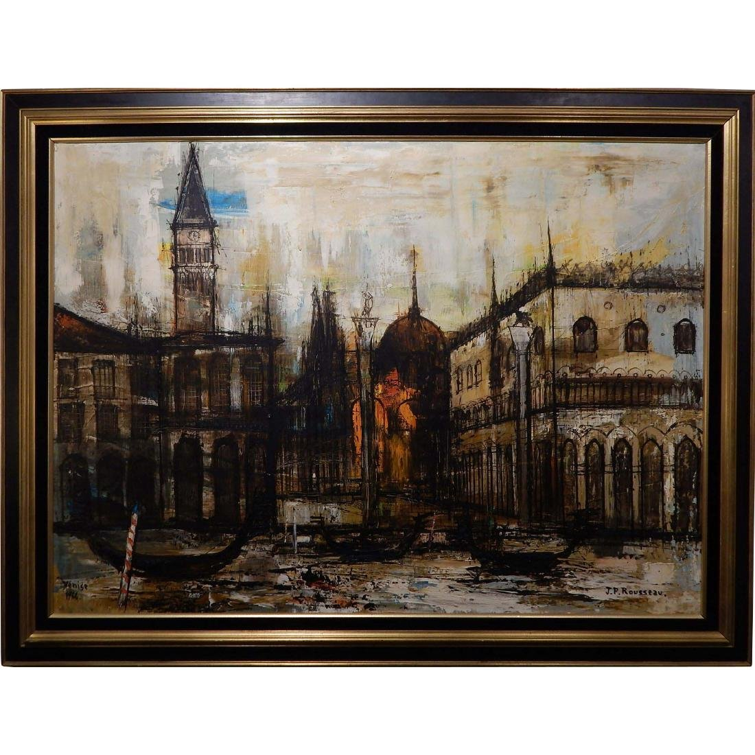 Jean Pierre Rousseau 1966 Oil Painting Of Venice