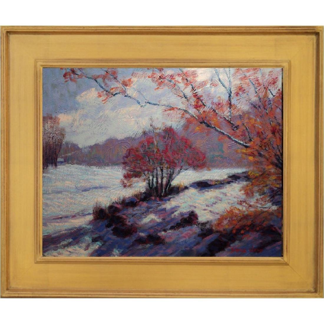 Contemporary Impressionist Snow Scene