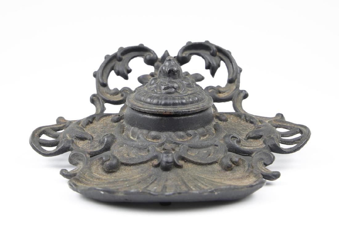 Wrought Iron Inkwell