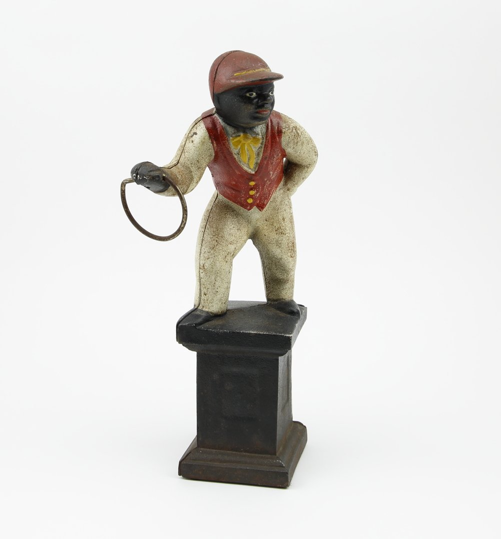 "Iron Jockey Door Stop  ""Jocko Graves"""