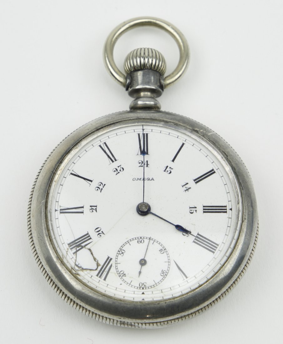 Sterling Silver Omega Pocket Watch 1894