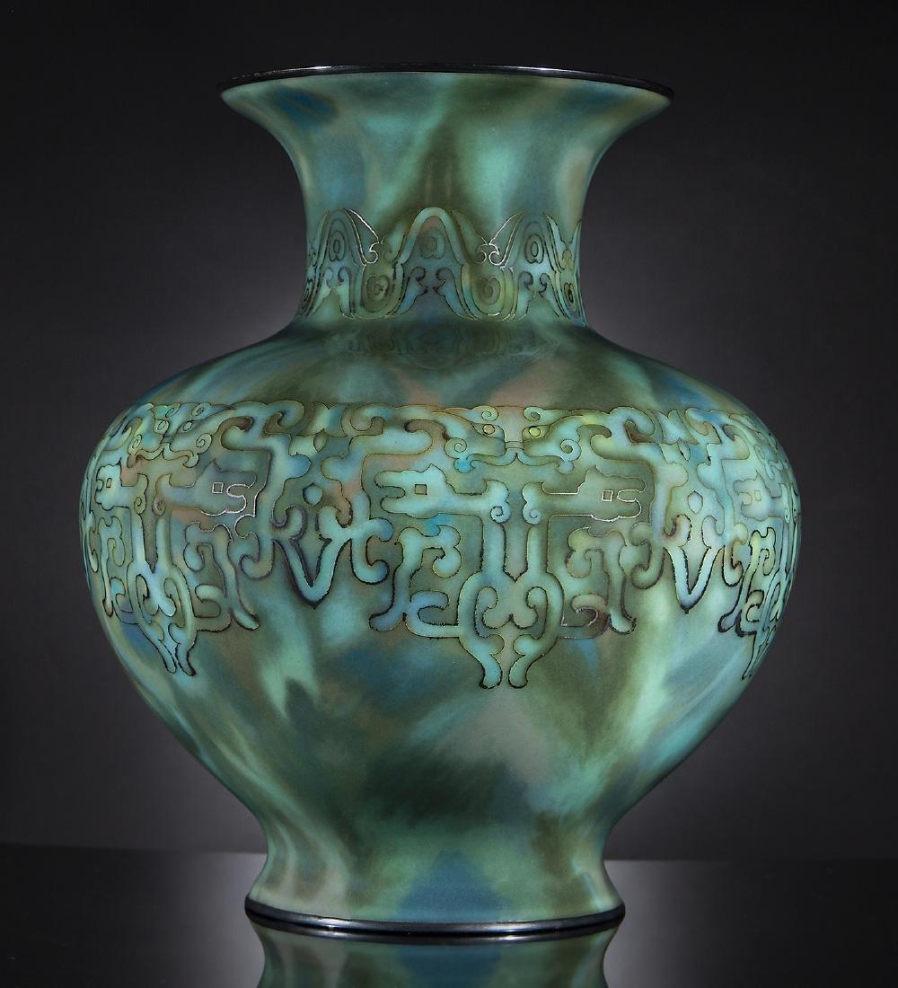 Japanese Cloisonne Enamel Vase - 2