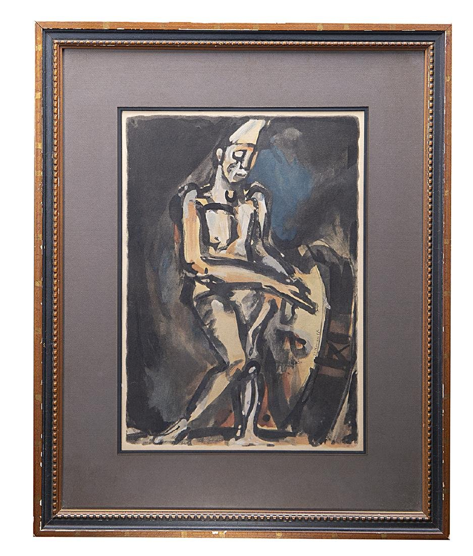 George Rouault Lithograph Block Signed
