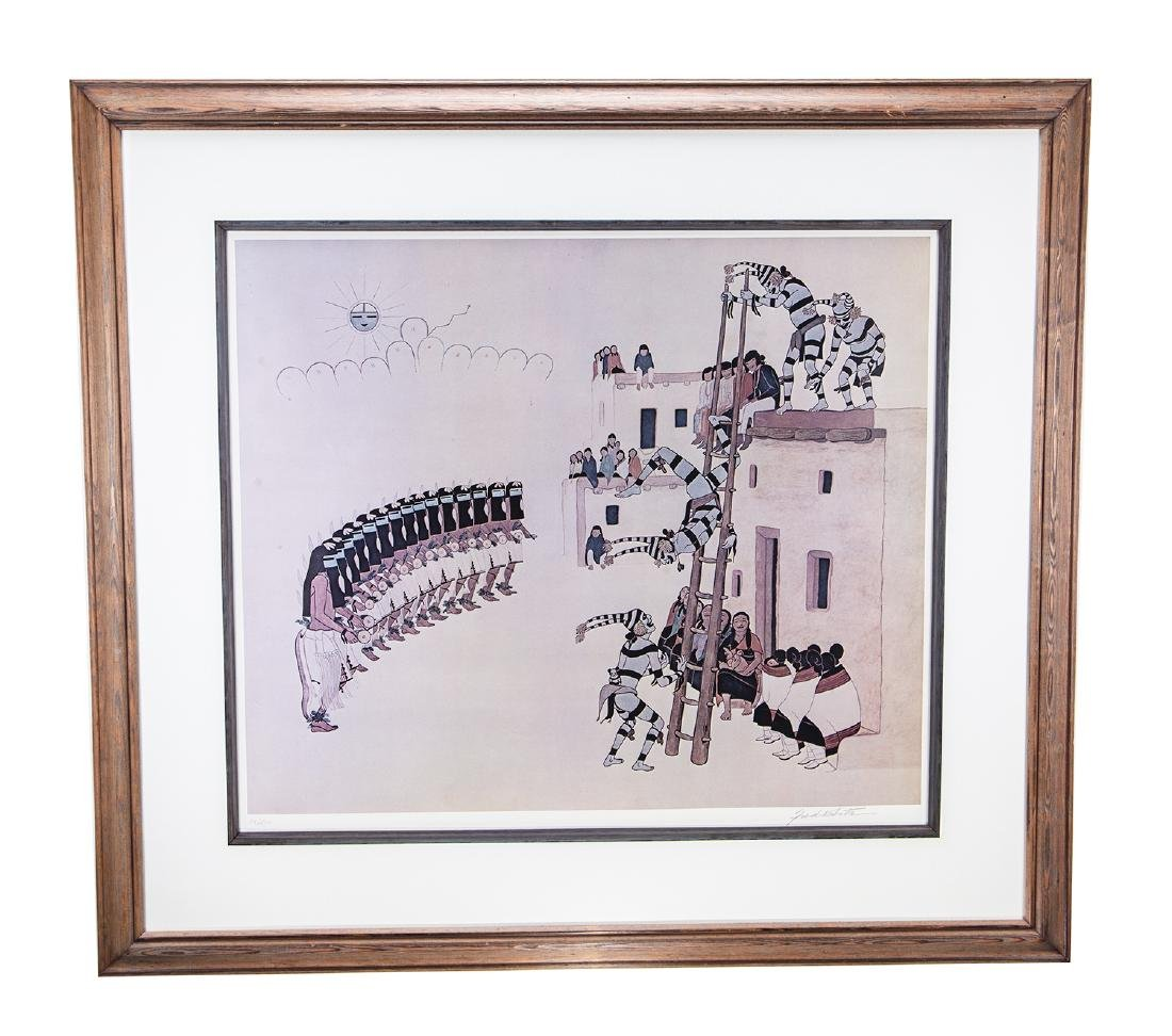 Native American Art Fred Kabotie Signed Print