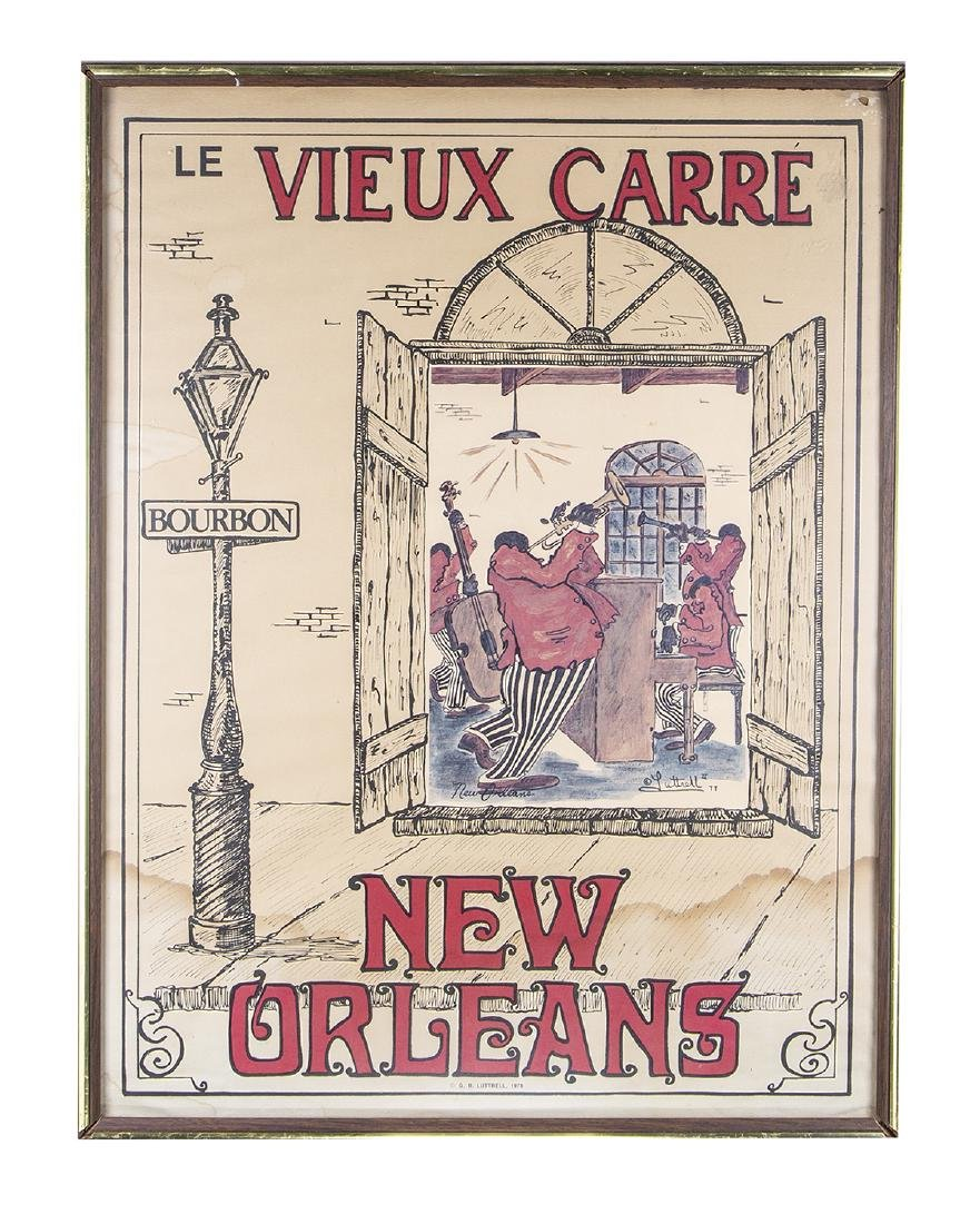George Luttrell Print LE VIEUX CARRE (New Orleans