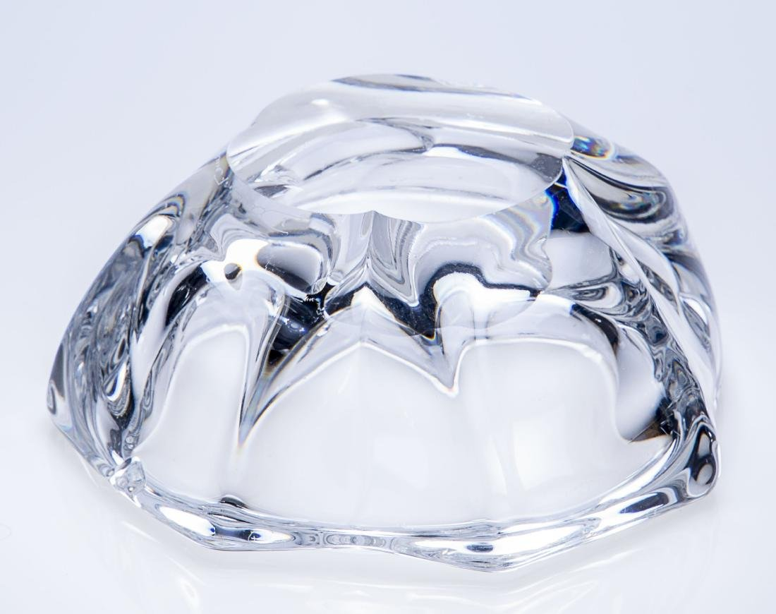 Daum France Hand Blown Crystal Bowl Ashtray - 3
