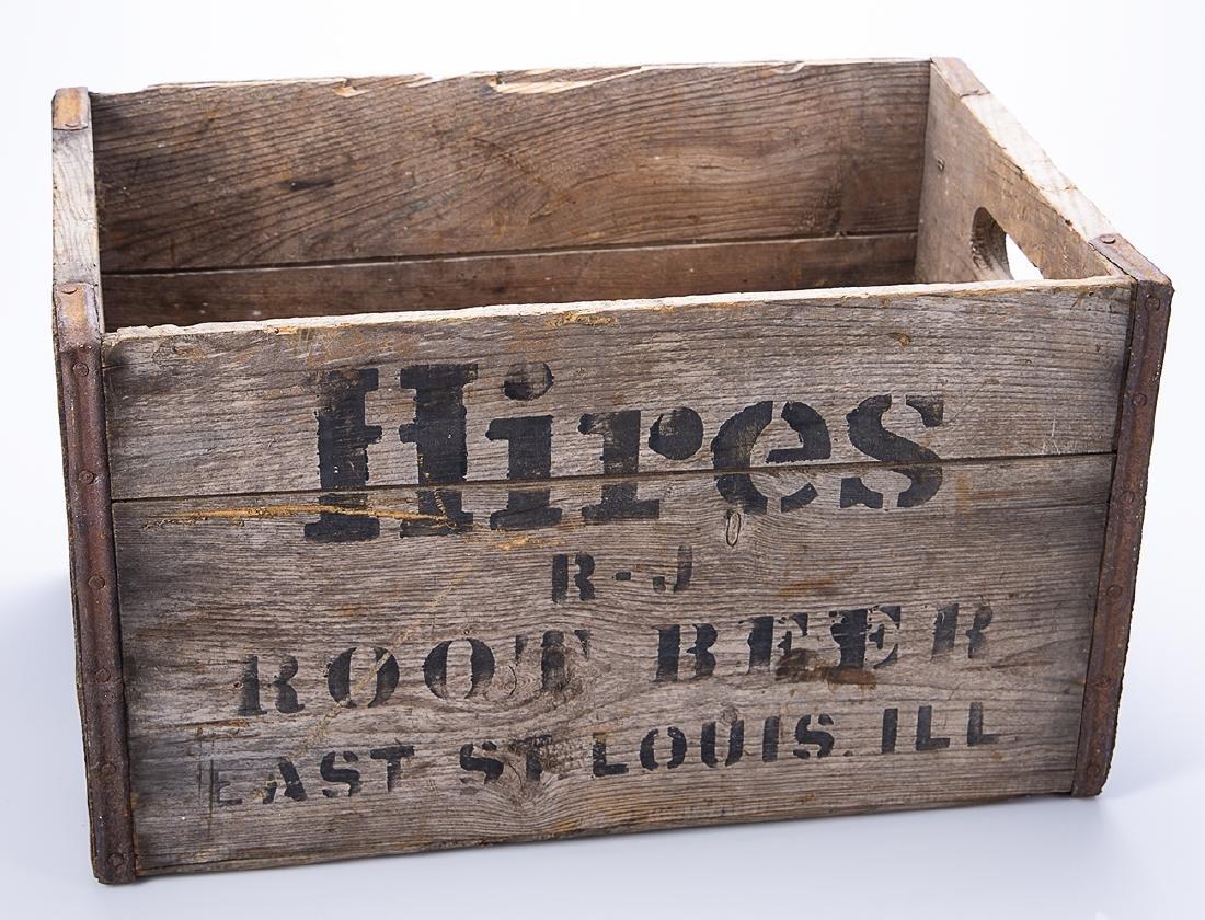 Hires Root Beer Wooden Crate