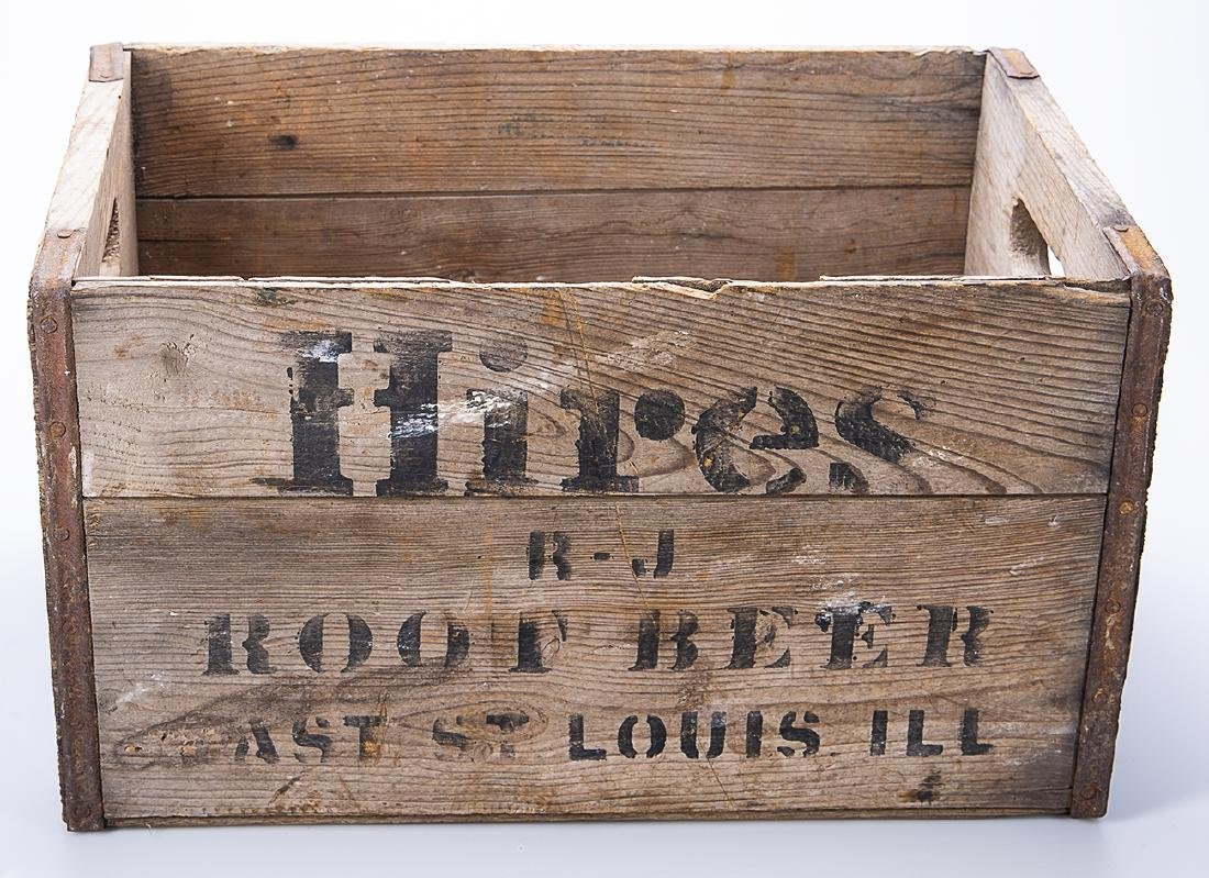 Hires Root Beer Wooden Crate - 3