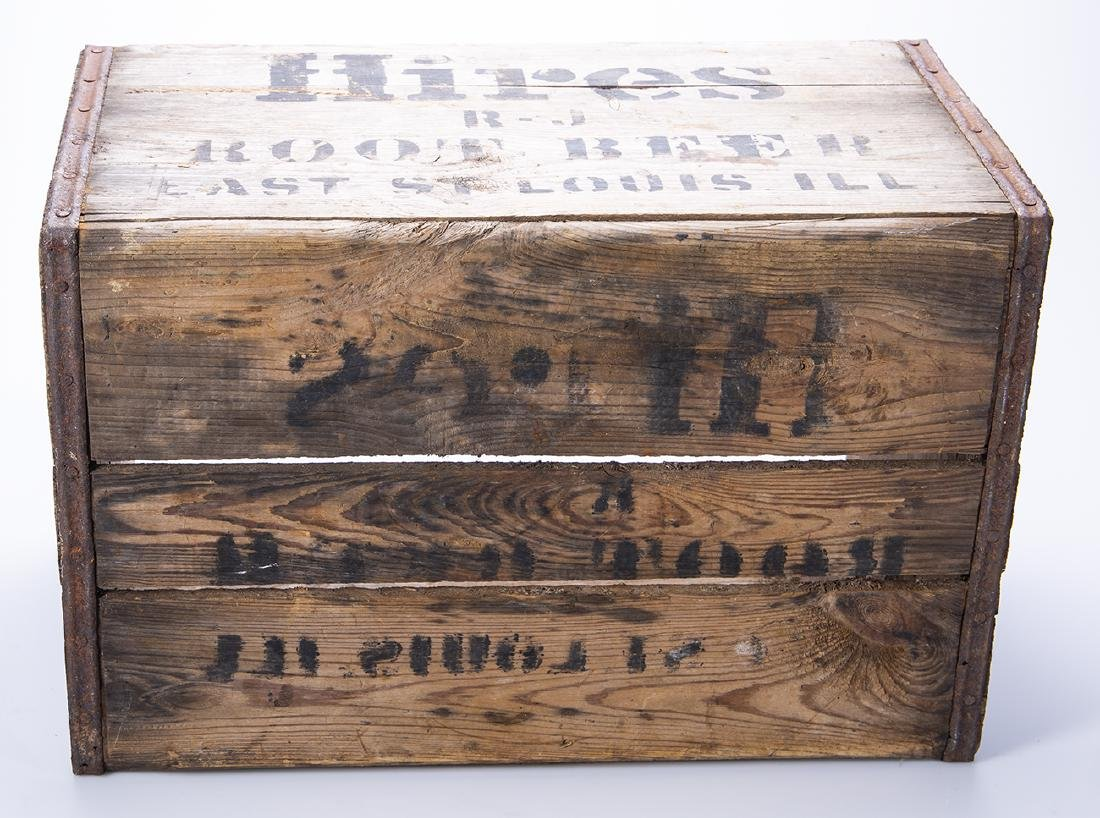 Hires Root Beer Wooden Crate - 6
