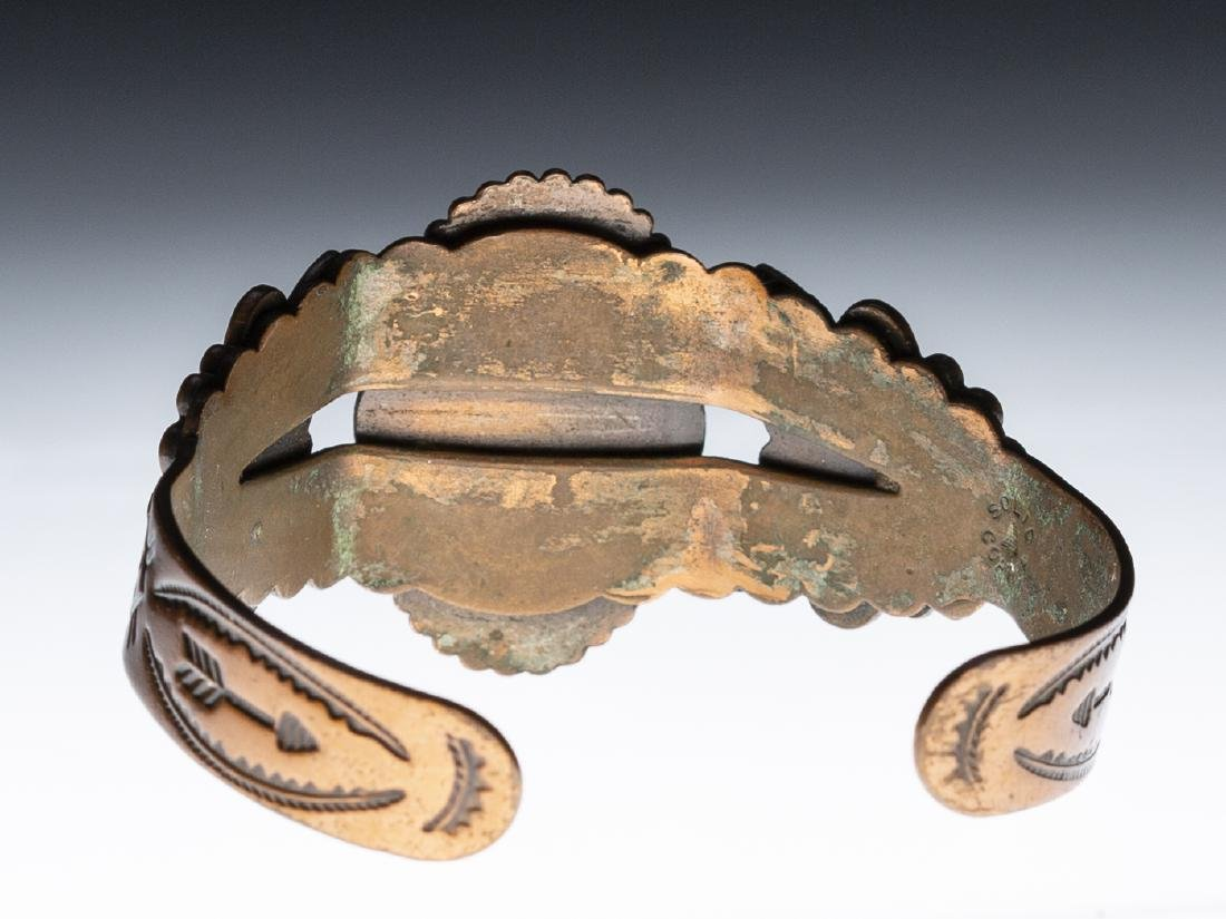 Native American Copper Turquoise Bracelet - 3