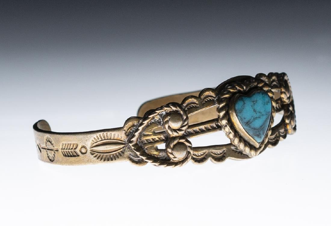 Native American Silver Turquoise Bracelet - 2