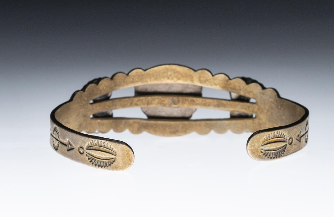 Native American Silver Turquoise Bracelet - 4