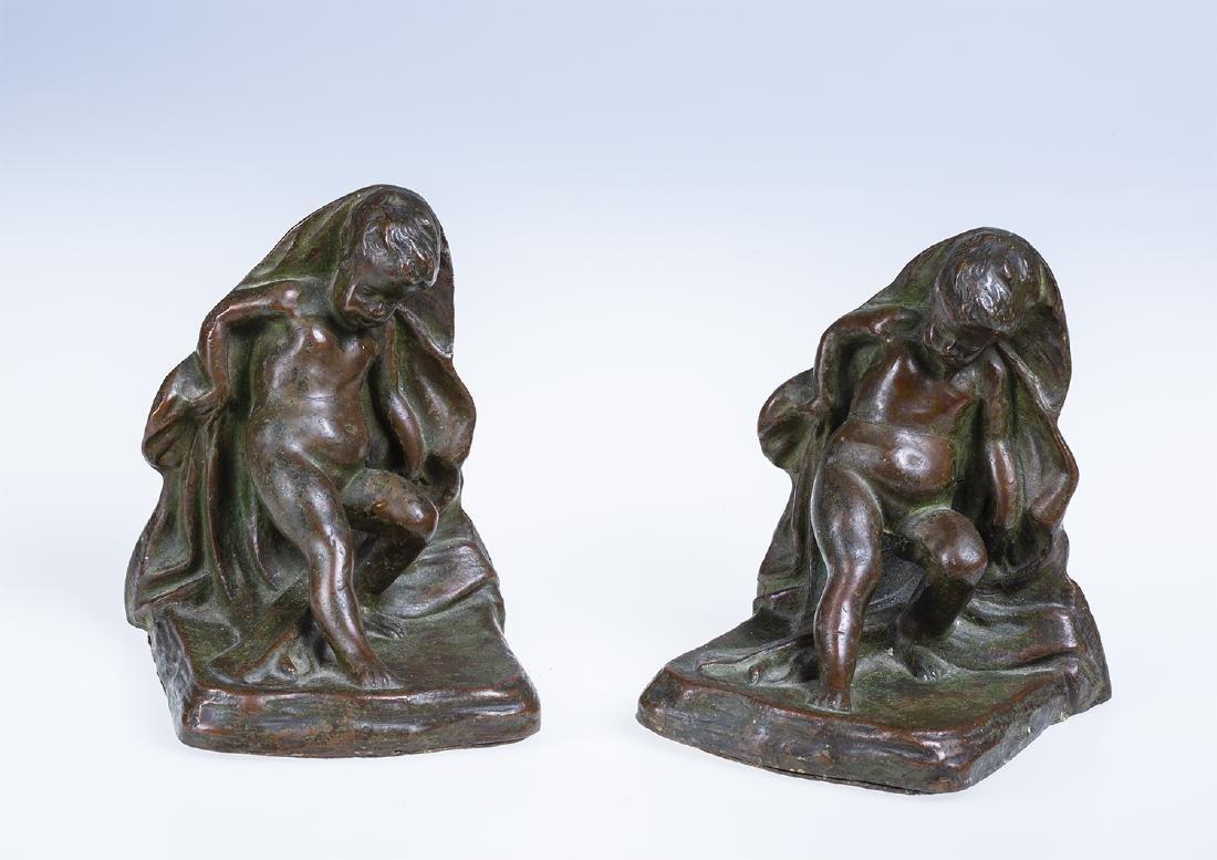 Bronze Cherub Bookends