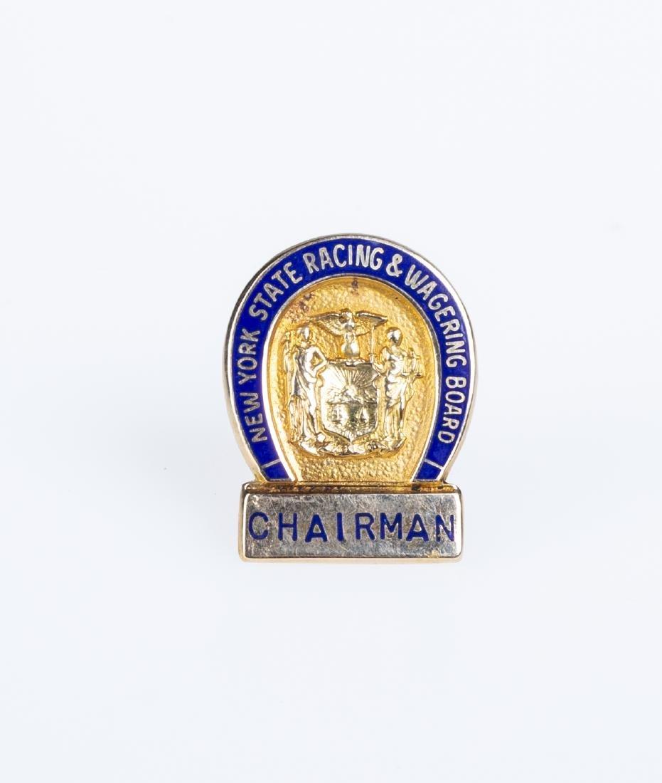 14k Gold New York Racing & Wagering Board Chairman Pin
