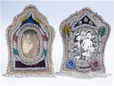 Native American Indian Iroquois Beaded Picture Frames