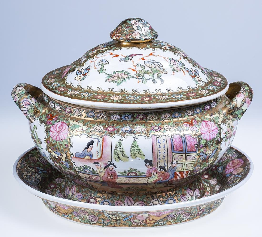 Rose Medallion Soup Tureen