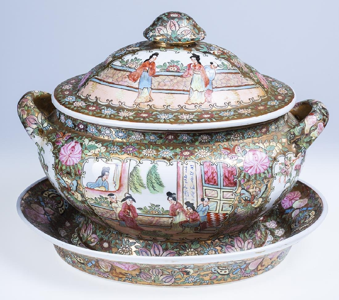 Rose Medallion Soup Tureen - 2