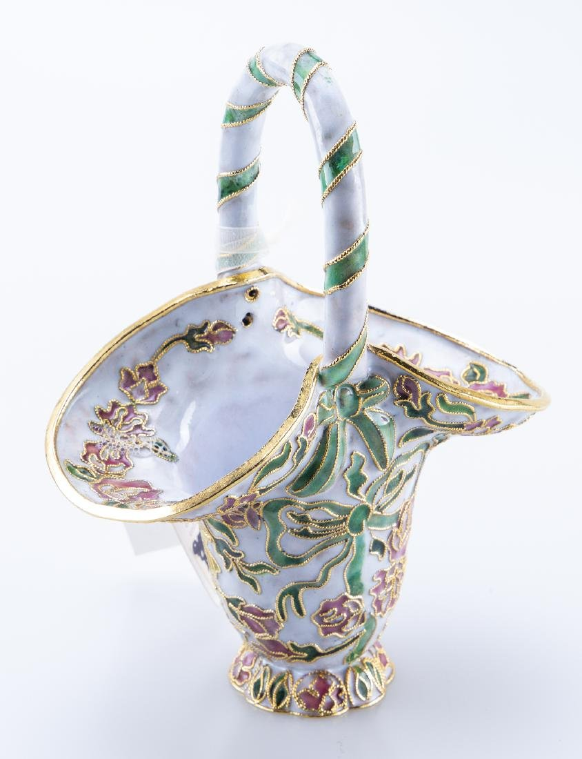 Enamel Basket (Reminiscent Faberge Jeweler)