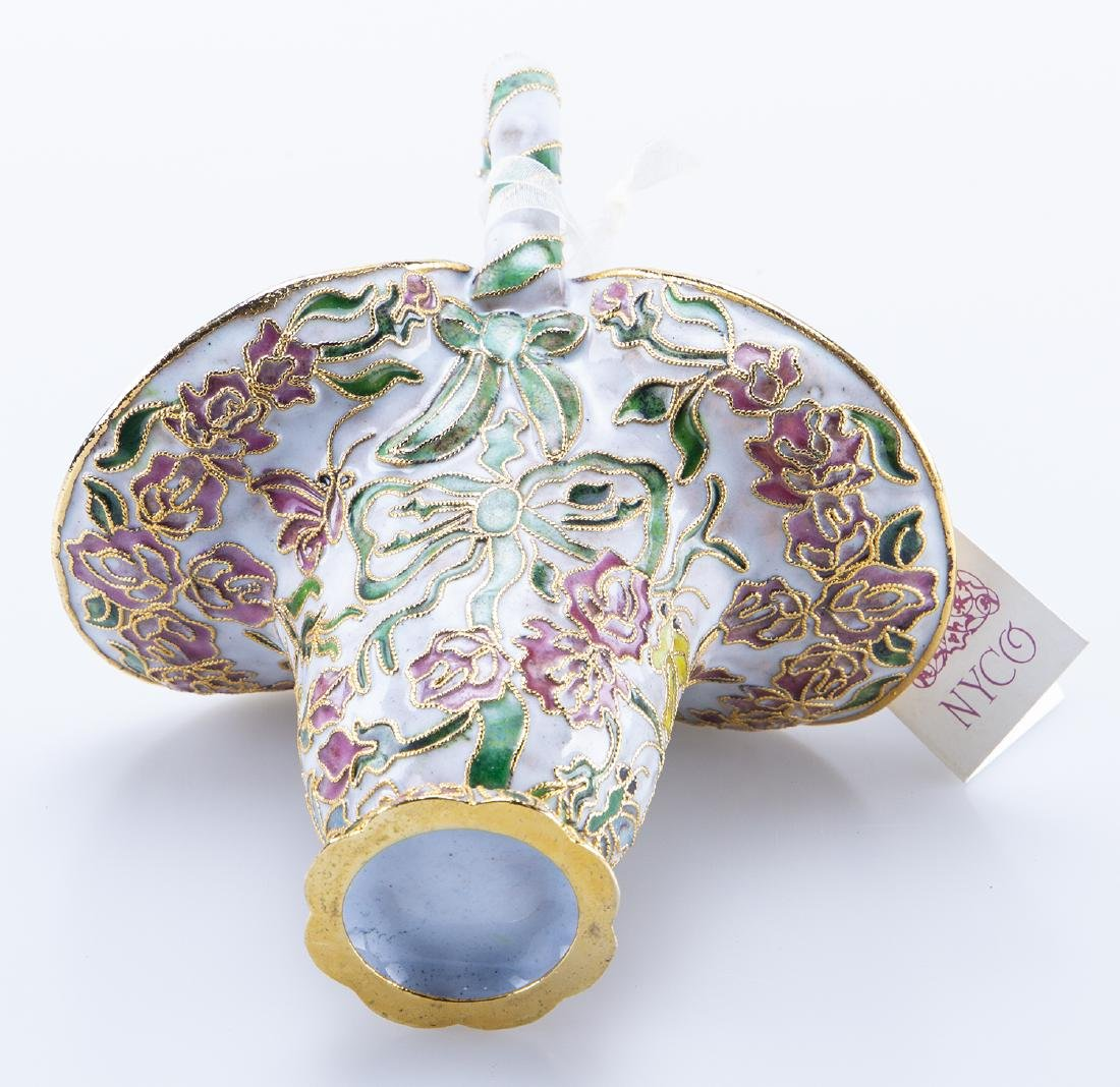 Enamel Basket (Reminiscent Faberge Jeweler) - 3
