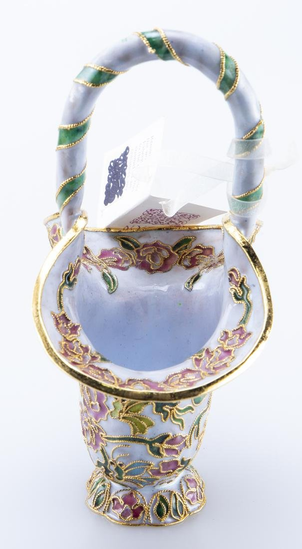 Enamel Basket (Reminiscent Faberge Jeweler) - 4