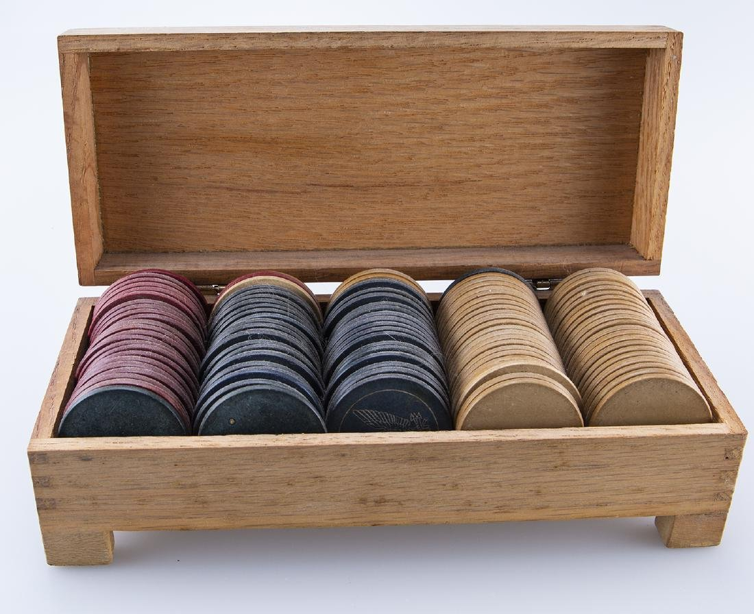 Vintage wooden Poker Chips - 2