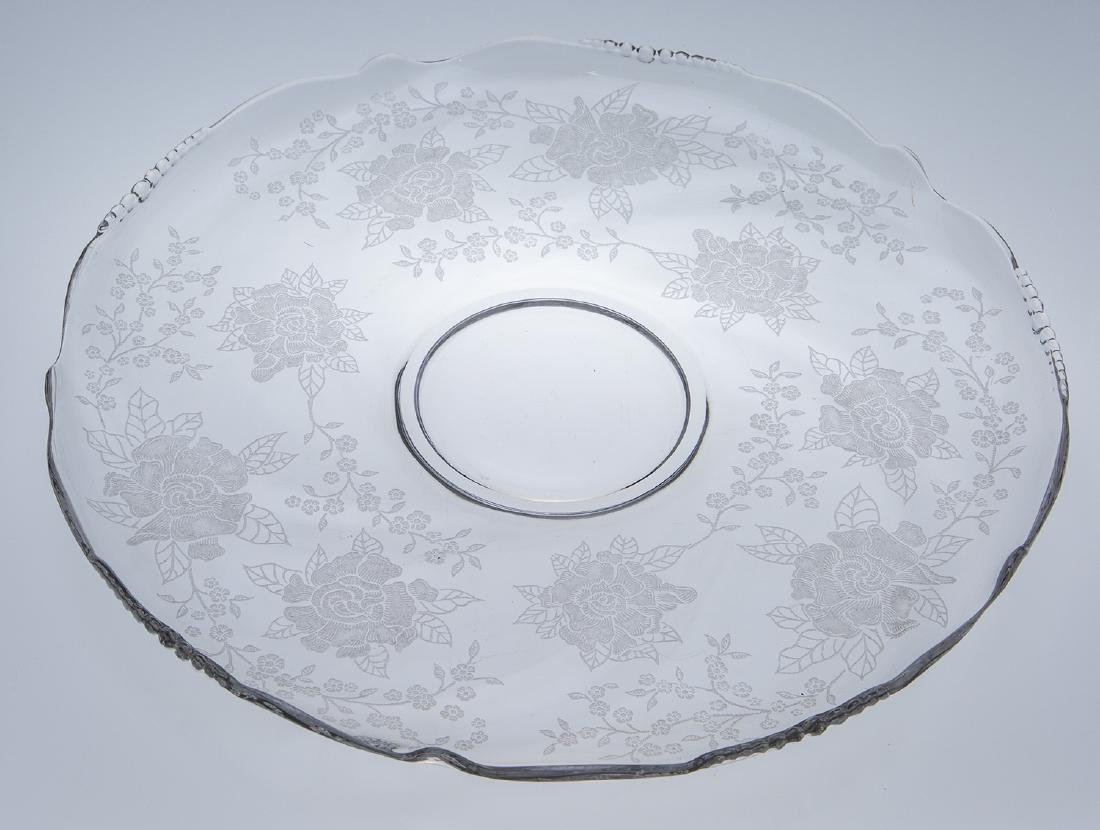 Heisey Waverly Rose Etched Platter