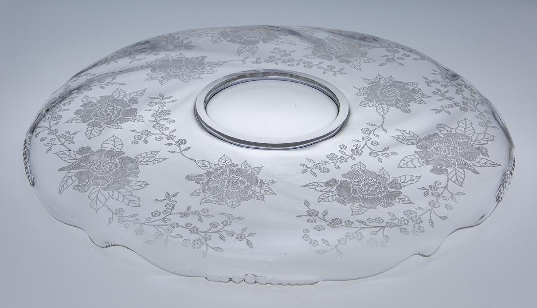 Heisey Waverly Rose Etched Platter - 2