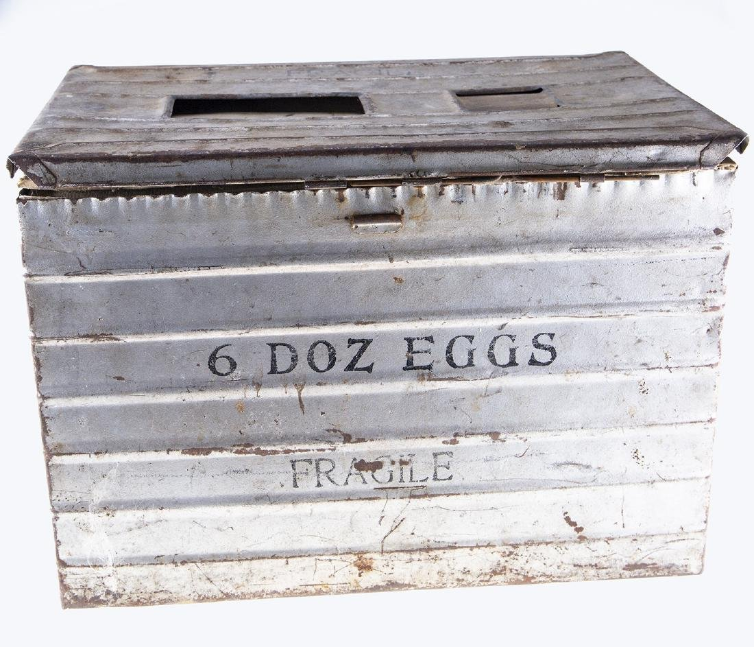 Vintage Metal Egg Crate