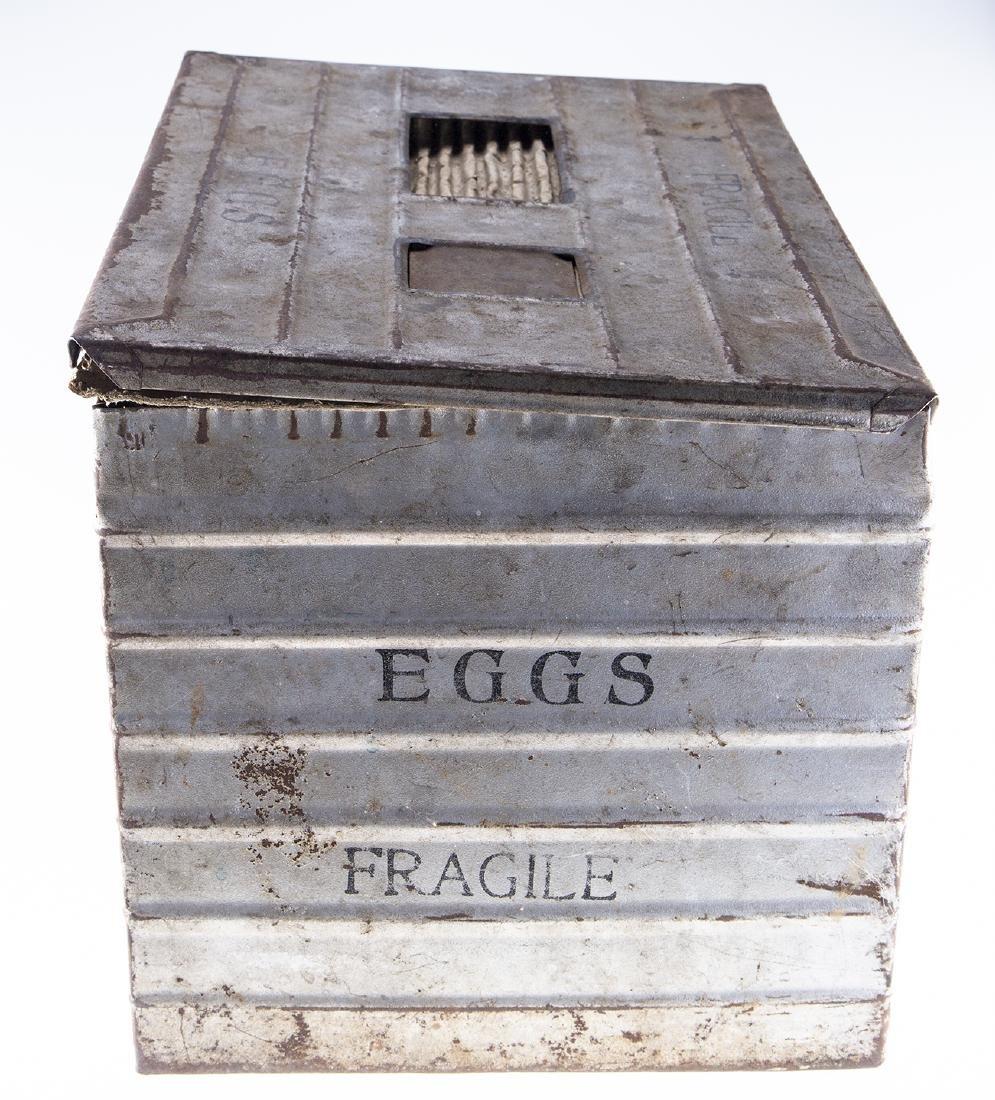 Vintage Metal Egg Crate - 3