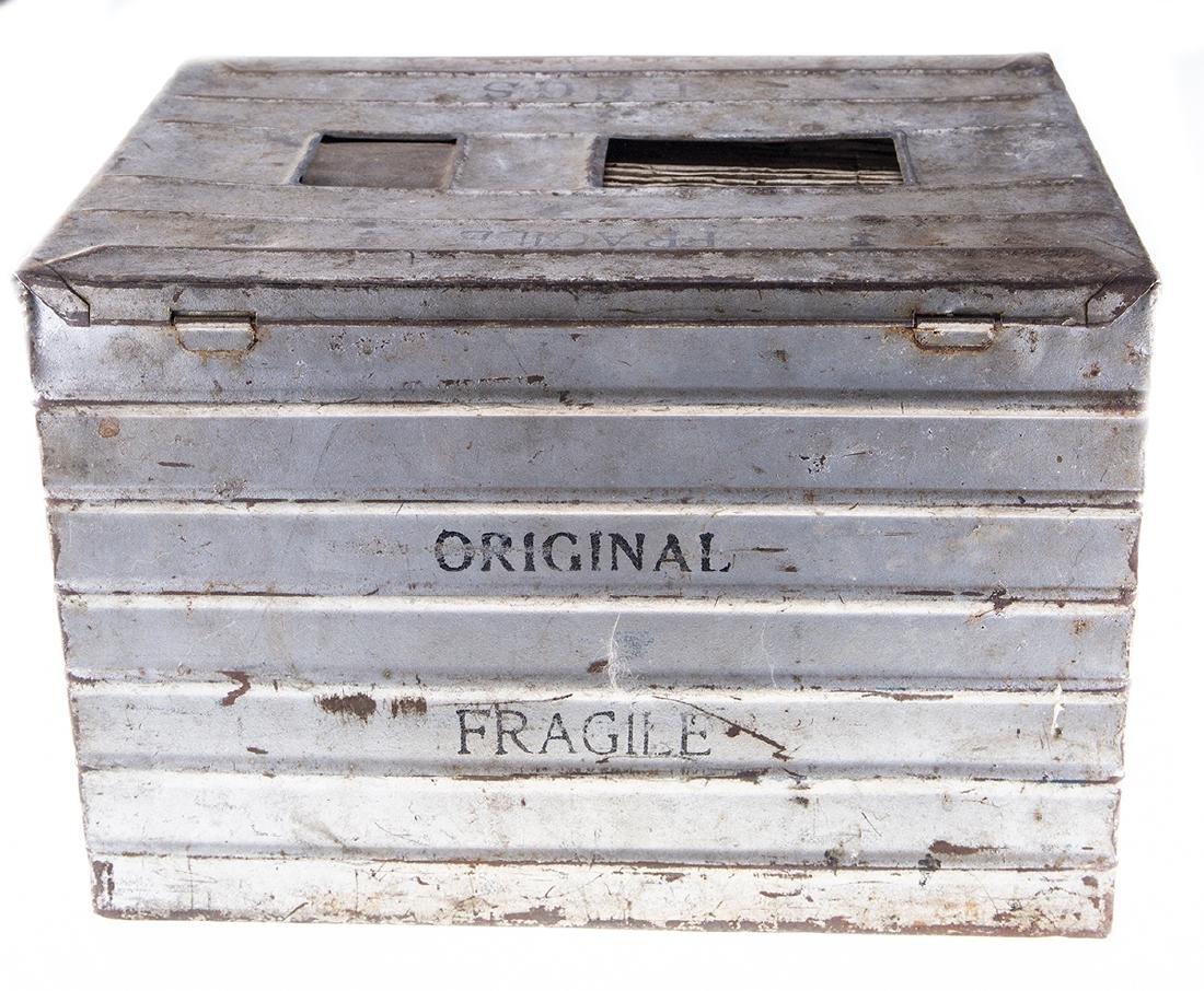 Vintage Metal Egg Crate - 4