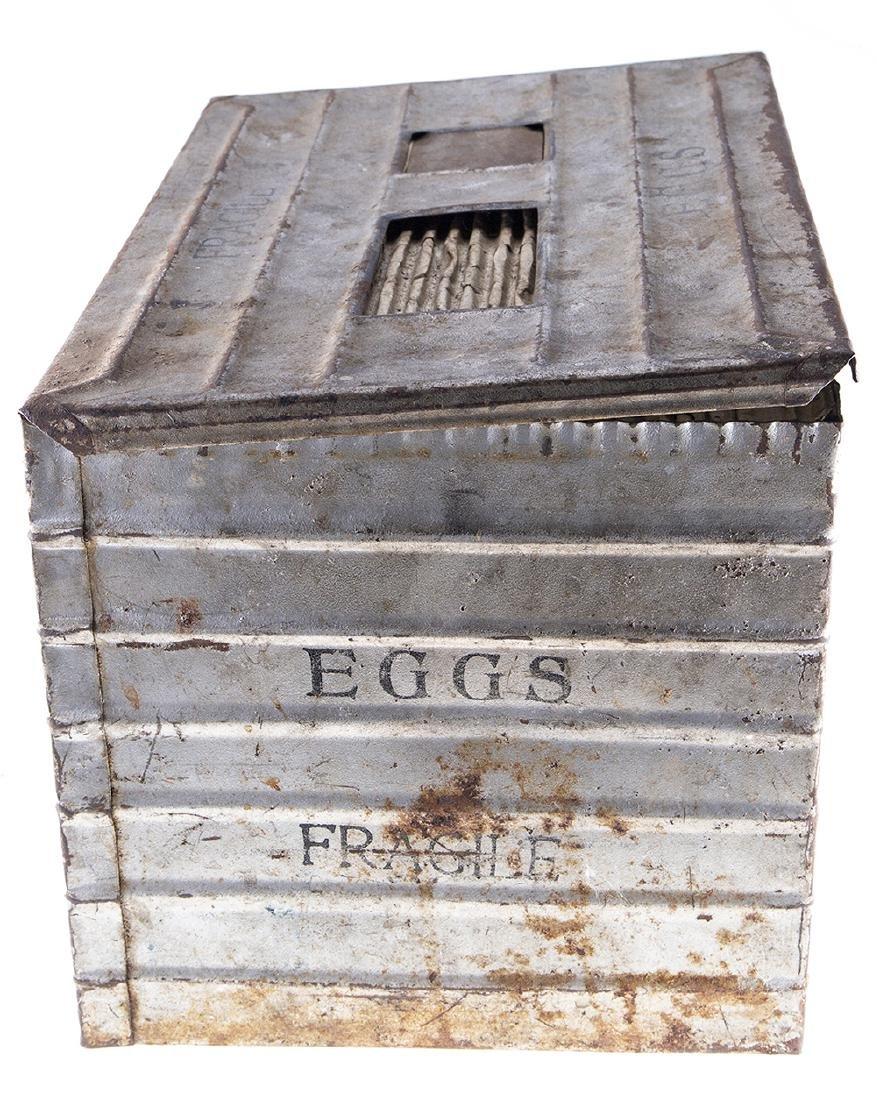 Vintage Metal Egg Crate - 5