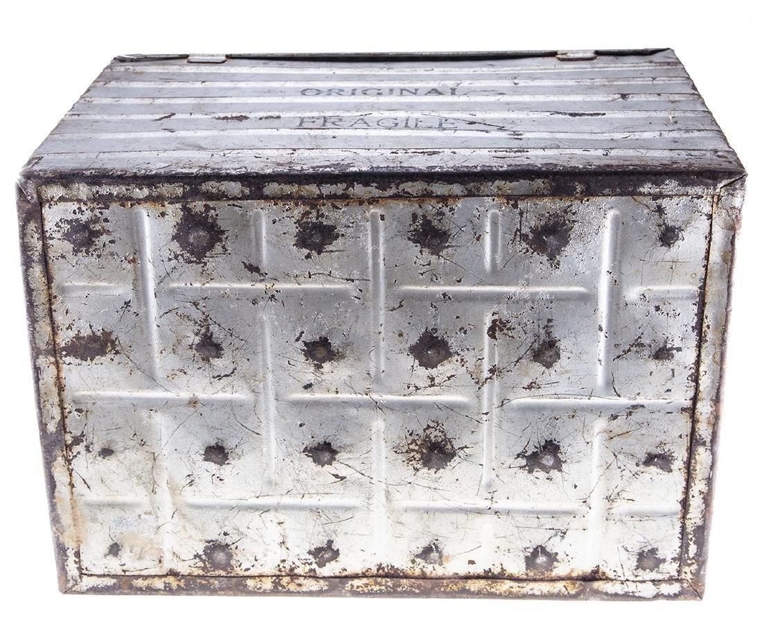 Vintage Metal Egg Crate - 6